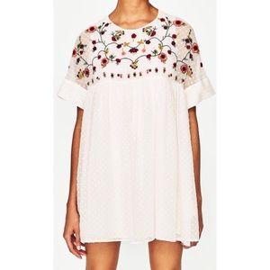 Embroidered Chiffon Zara Dress